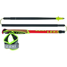 LEKI Micro Trail Race Trail Running Sticks foldable neon red/darkred/grey/white/neon yellow